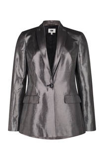 WE Fashion gestreepte metallic blazer zilver (dames)
