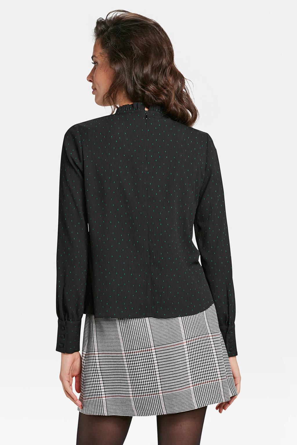 WE Fashion top met stippen zwart, Zwart