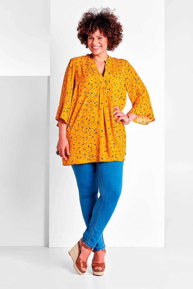 Miss Etam Plus slim fit tregging Zumba 32 inch blauw | wehkamp