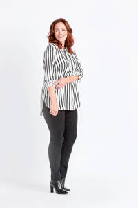 Miss Etam Plus high waist skinny tregging Zumba zwart, Zwart