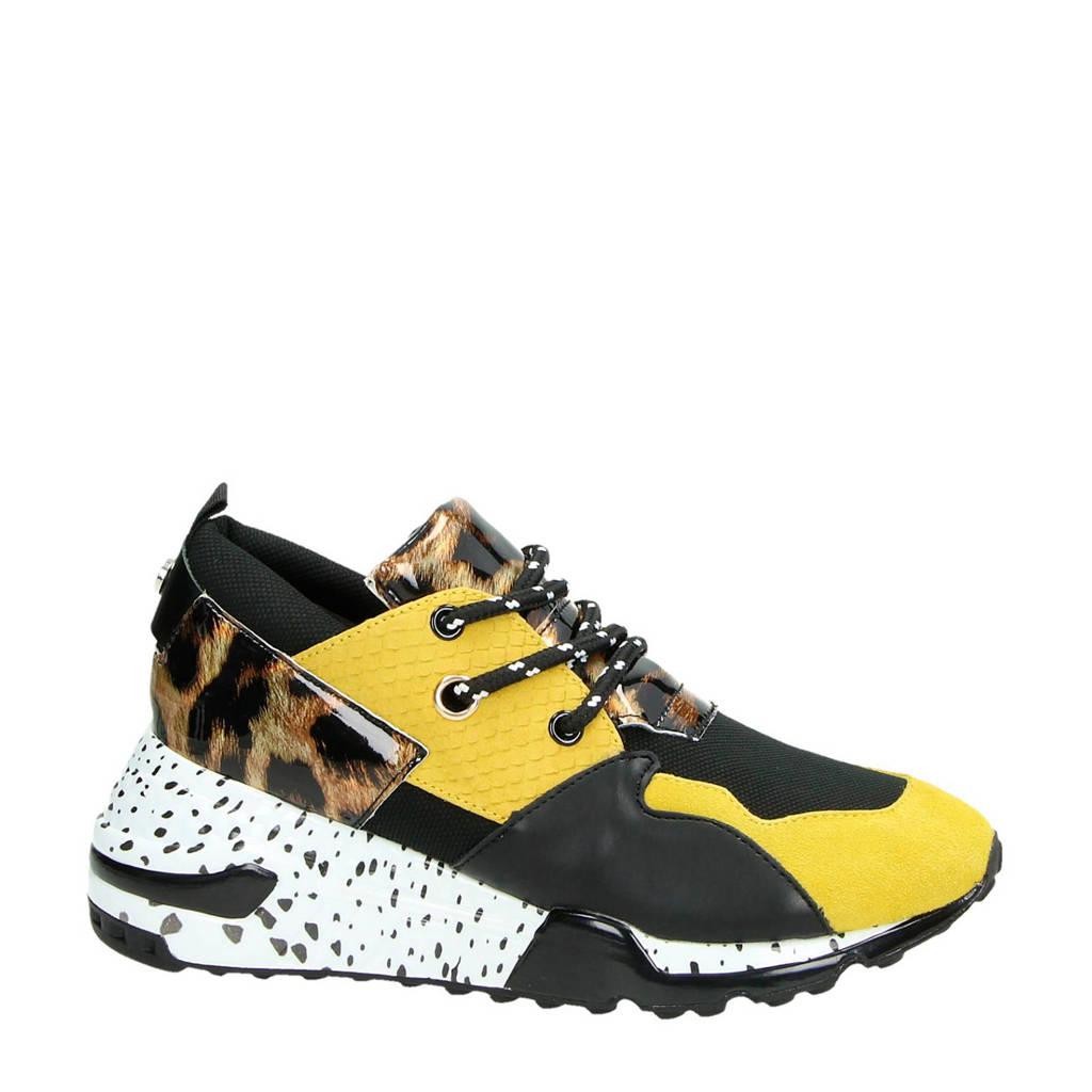 Steve Madden  sneakers Cliff geel/zwart, Geel/zwart/geel/wit
