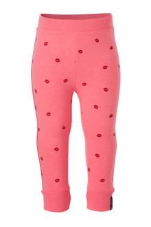 legging met kusjes roze