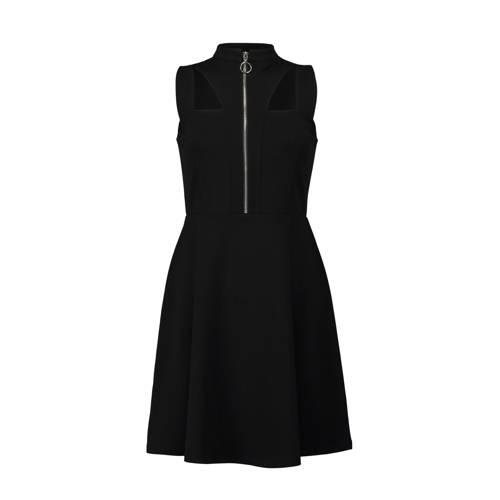 mouwloze A-lijn jurk zwart