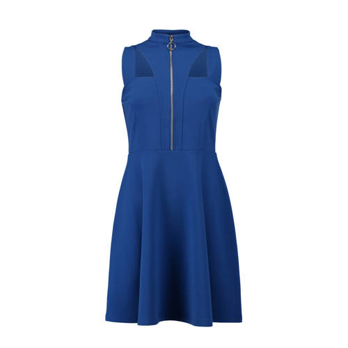mouwloze A-lijn jurk blauw