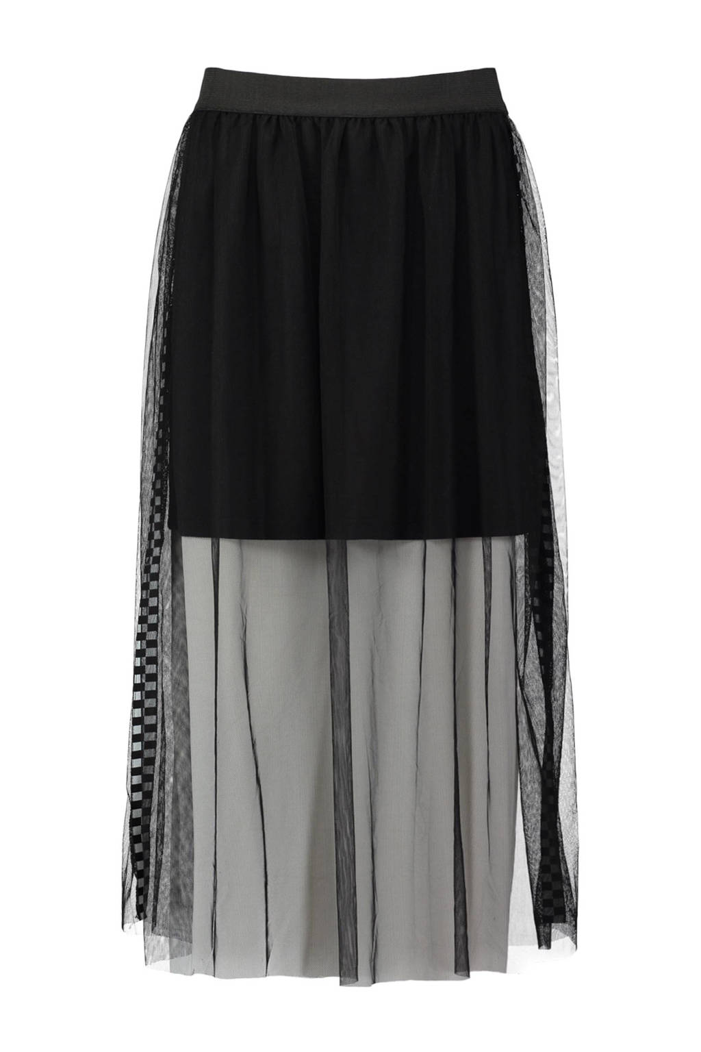 691e69c30dd5fa CoolCat plissé rok met tule zwart