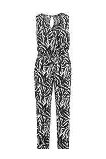 MS Mode jumpsuit met zebraprint zwart/wit (dames)