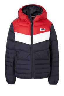 Junior winterjas Bend donkerblauw/rood