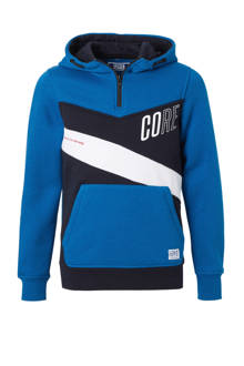 Junior sweater Sean blauw/donkerblauw