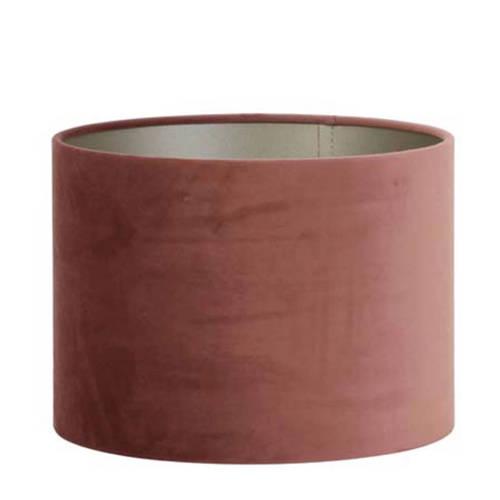 Kap cilinder 30-30-21 cm VELOURS dusky pink Light & Living