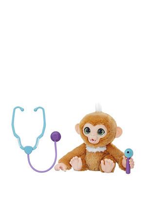 Zandi het zieke aapje interactieve knuffel