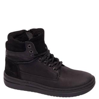 vanHaren Vty  nubuckleren sneakers zwart