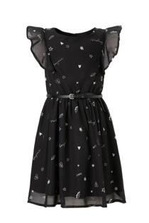 C&A Here & There jurk met print zwart (meisjes)