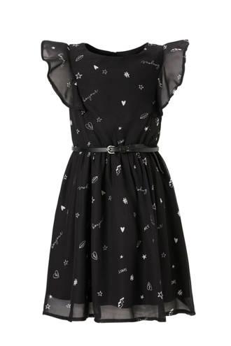 Here & There jurk met print zwart