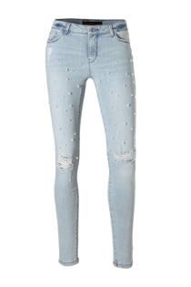 C&A Clockhouse super skinny jeans met parels lichtblauw (dames)