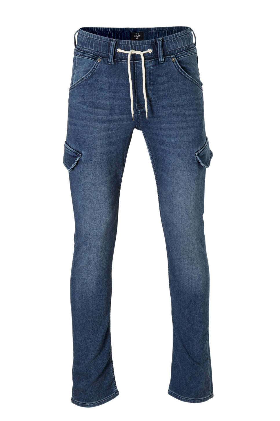 C&A The Denim slim fit cargo jog denim dark denim, Donkerblauw