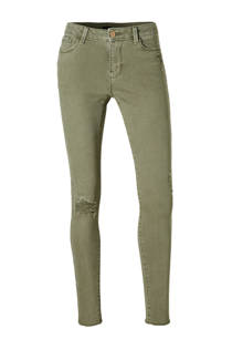 C&A Clockhouse super skinny jeans met versleten details kaki (dames)