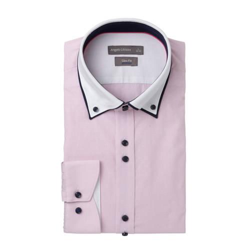 slim fit overhemd lichtroze