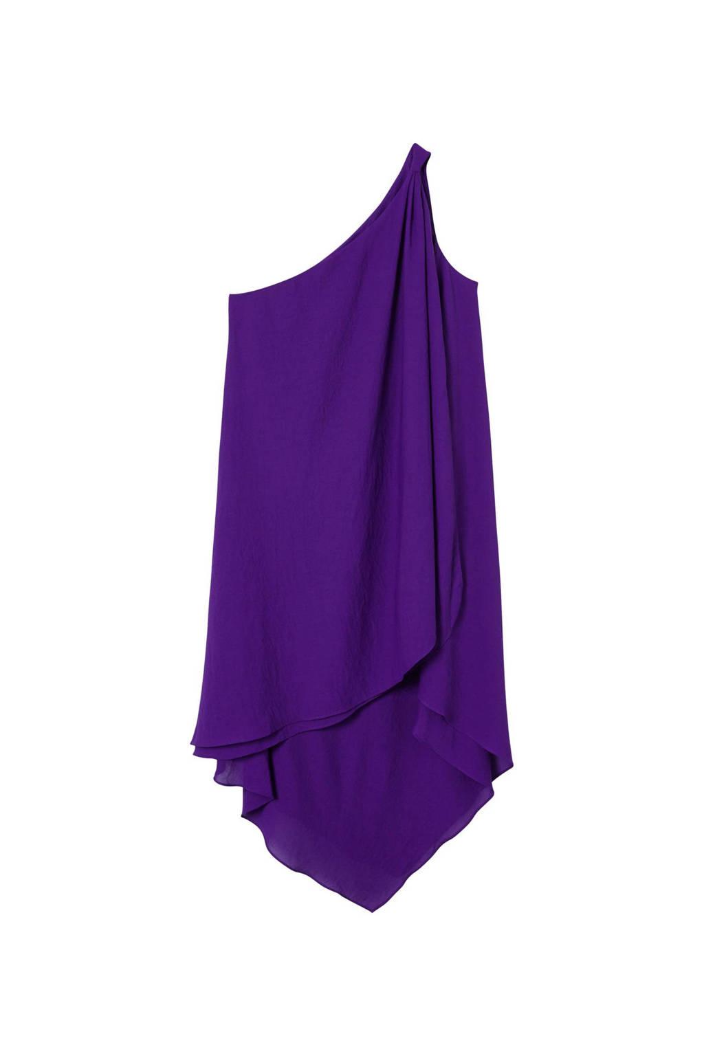 Mango asymetrische jurk paars, Paars