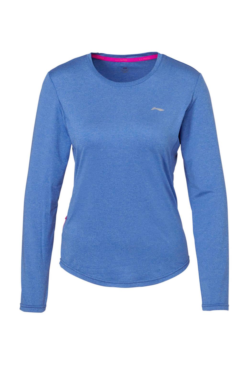Li-Ning sport T-shirt blauw, Blauw