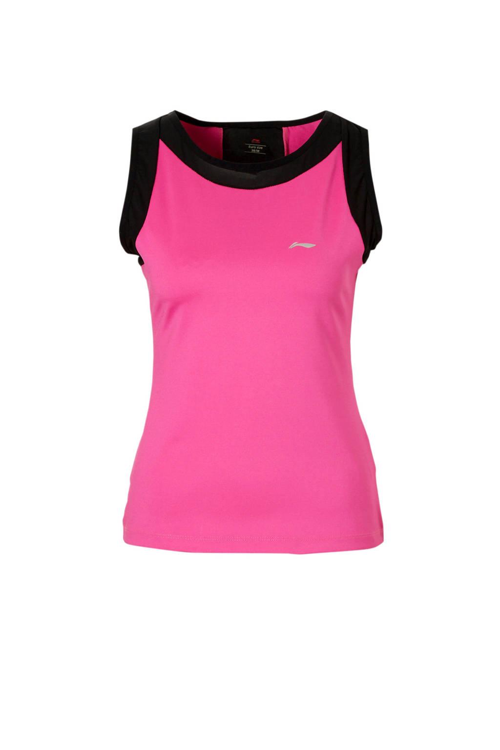 Li-Ning sporttop, Roze/zwart