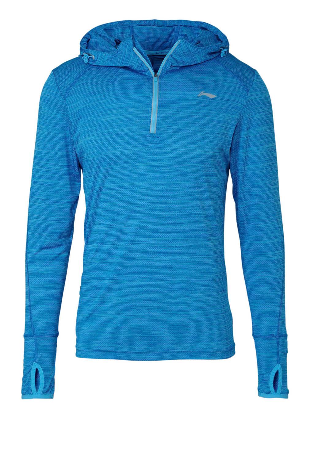 Li-Ning   hardloop T-shirt blauw, Blauw