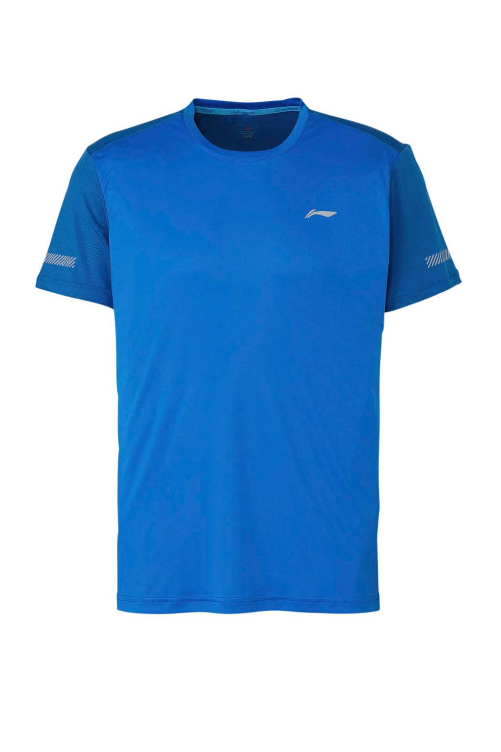 Li-Ning   hardloopshirt blauw, Blauw