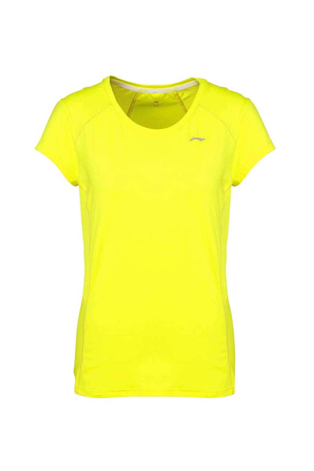 Li-Ning sport T-shirt neongeel, Neongeel