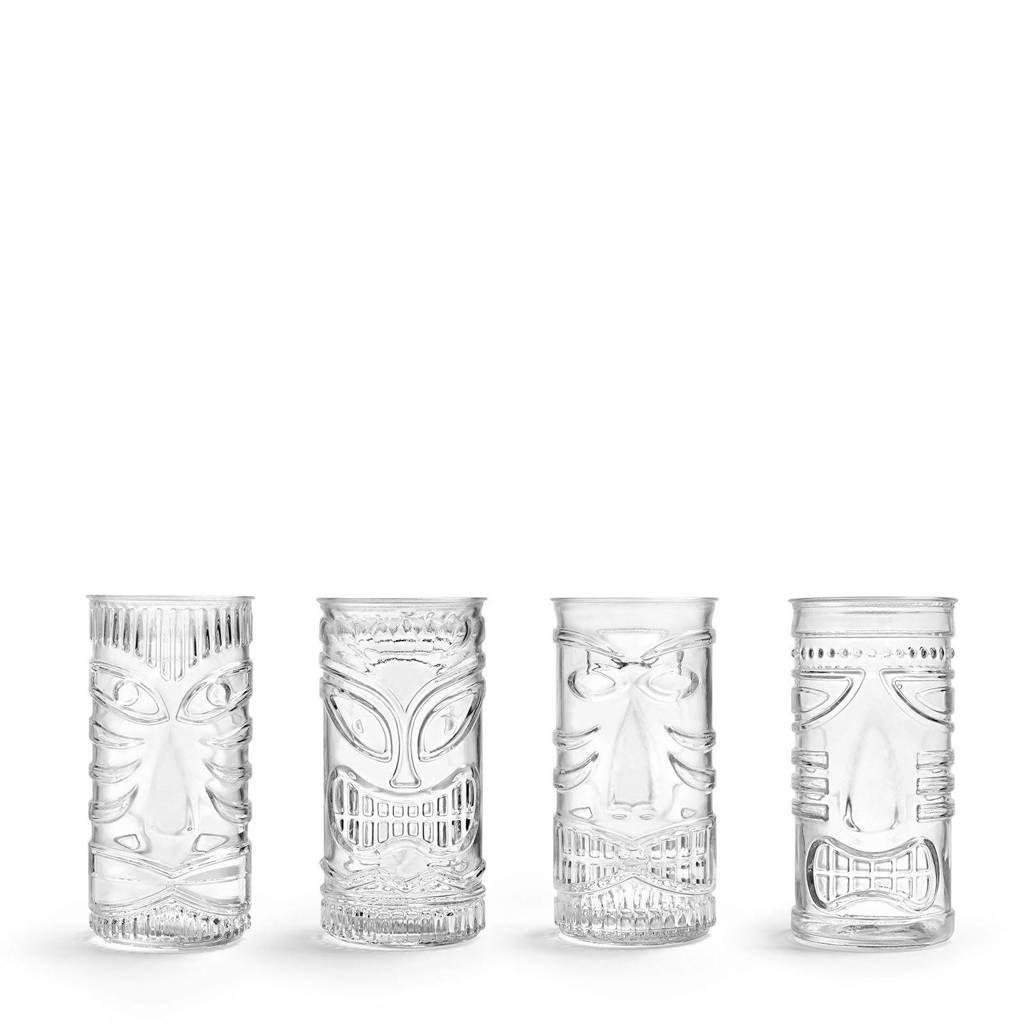 Libbey longdrinkglas Tiki Mixed GODs (Ø7,3 cm) (set van 4), transparant/goud