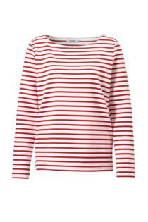 Pieces T-shirt met streep dessin rood (dames)