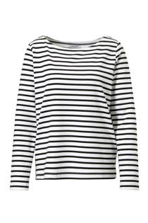 Pieces T-shirt met streep dessin zwart (dames)