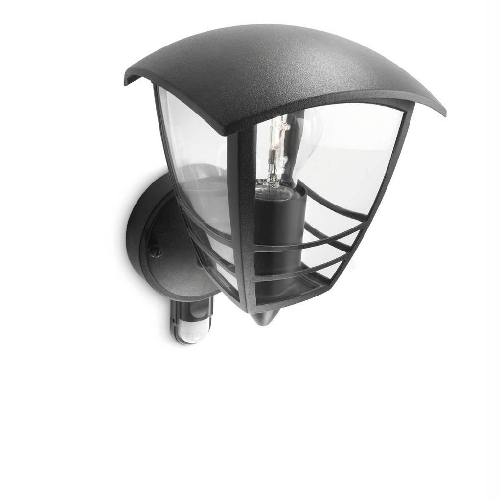 Philips myGarden wandlamp Creek (met bewegingssensor), Zwart
