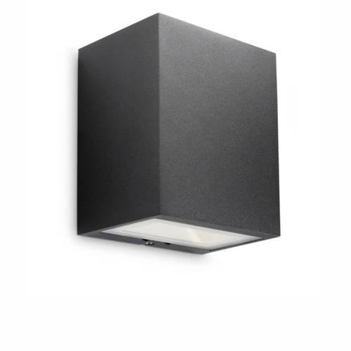 Philips ledino flagstone wandlamp safety extra low 3 x 1,5 w zwart