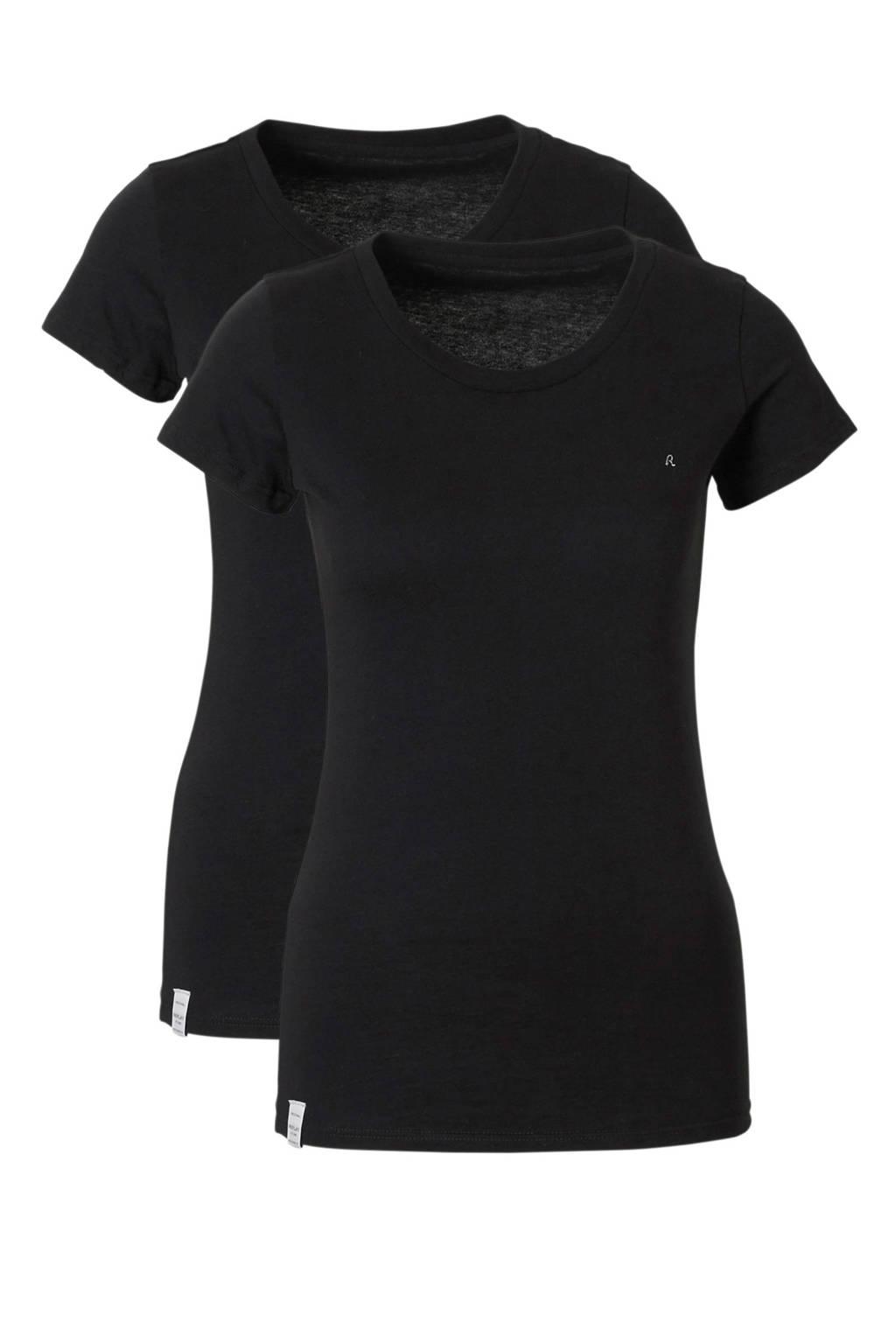 REPLAY Two pack round neck T-shirt, Zwart