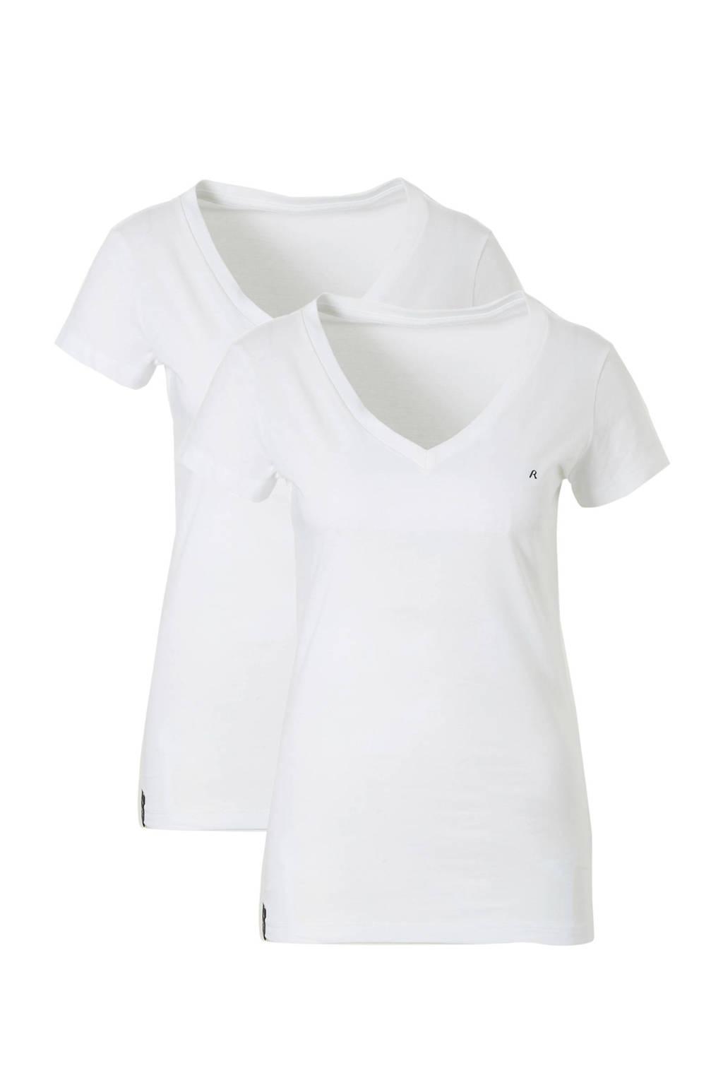 REPLAY T-shirt set van 2, Wit