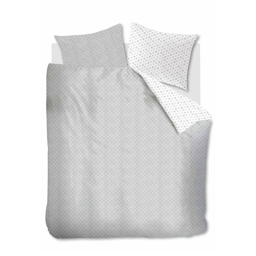 Ambiante katoenen dekbedovertrek lits. jum., Grijsgroen