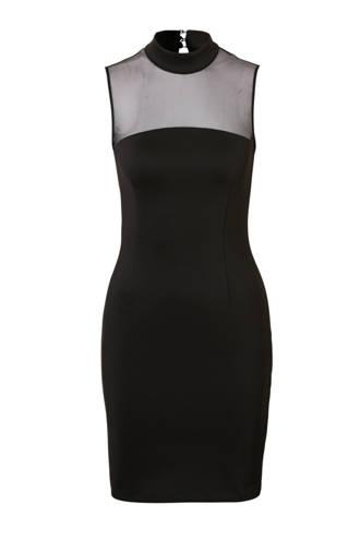 jurk met mesh details