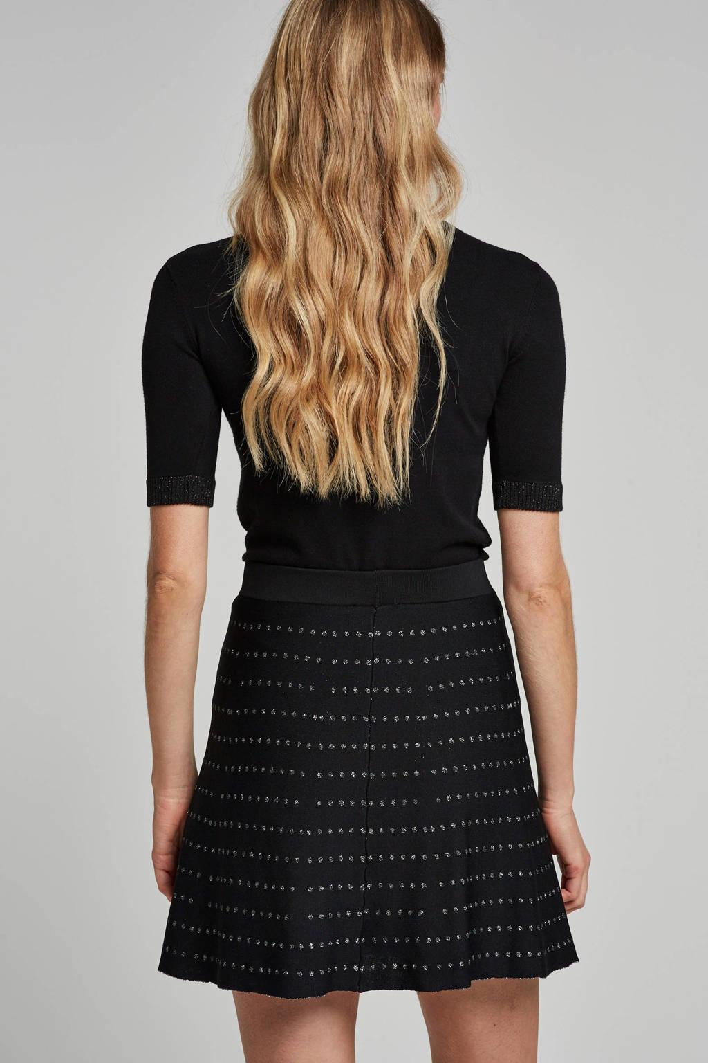 GUESS sweater Helene met logo en lurex, Zwart