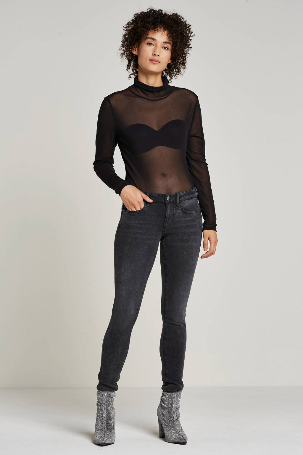 GUESS skinny fit jeans, Donker grijs