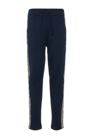 sweatpants Firida met zijstreep marine