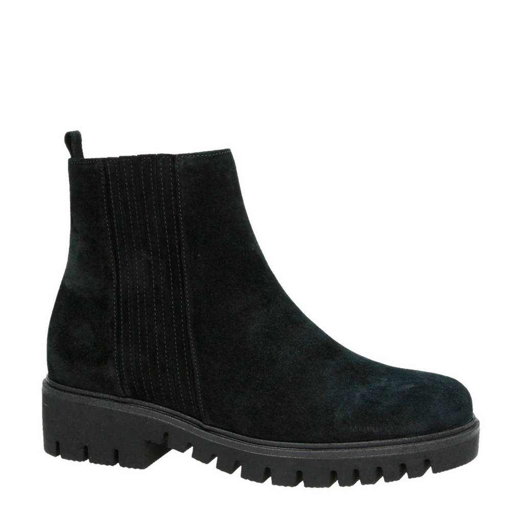 Gabor suède chelsea boots zwart, Zwart