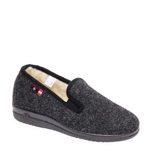 vilten pantoffels grijs