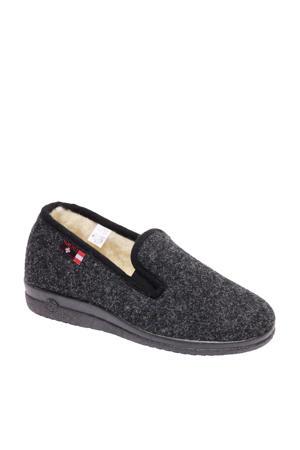 vanHaren Casa Mia vilten pantoffels grijs