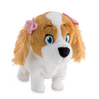 IMC Lola blaffende en lopende puppy interactieve knuffel, Wit/bruin