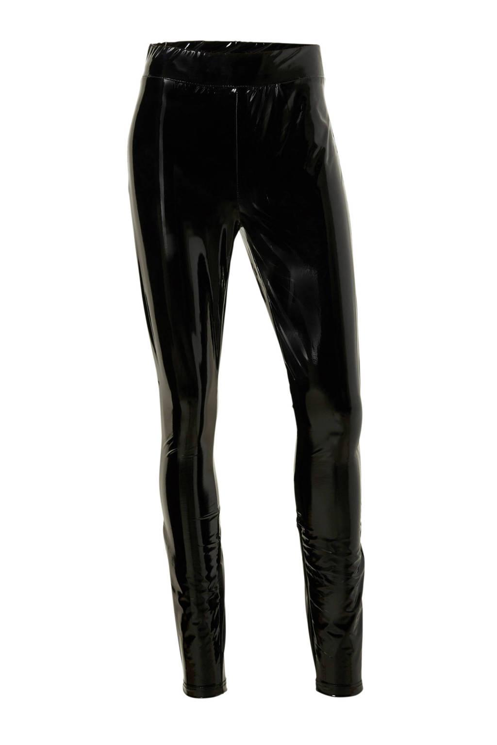 ONLY lakleren legging, Zwart