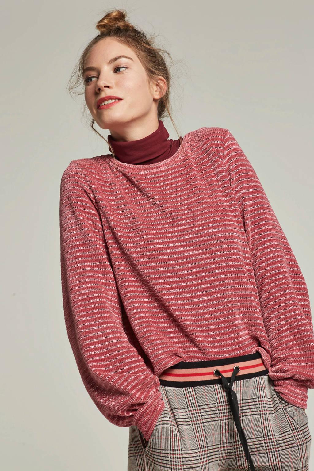 ONLY gestreepte trui, Roze