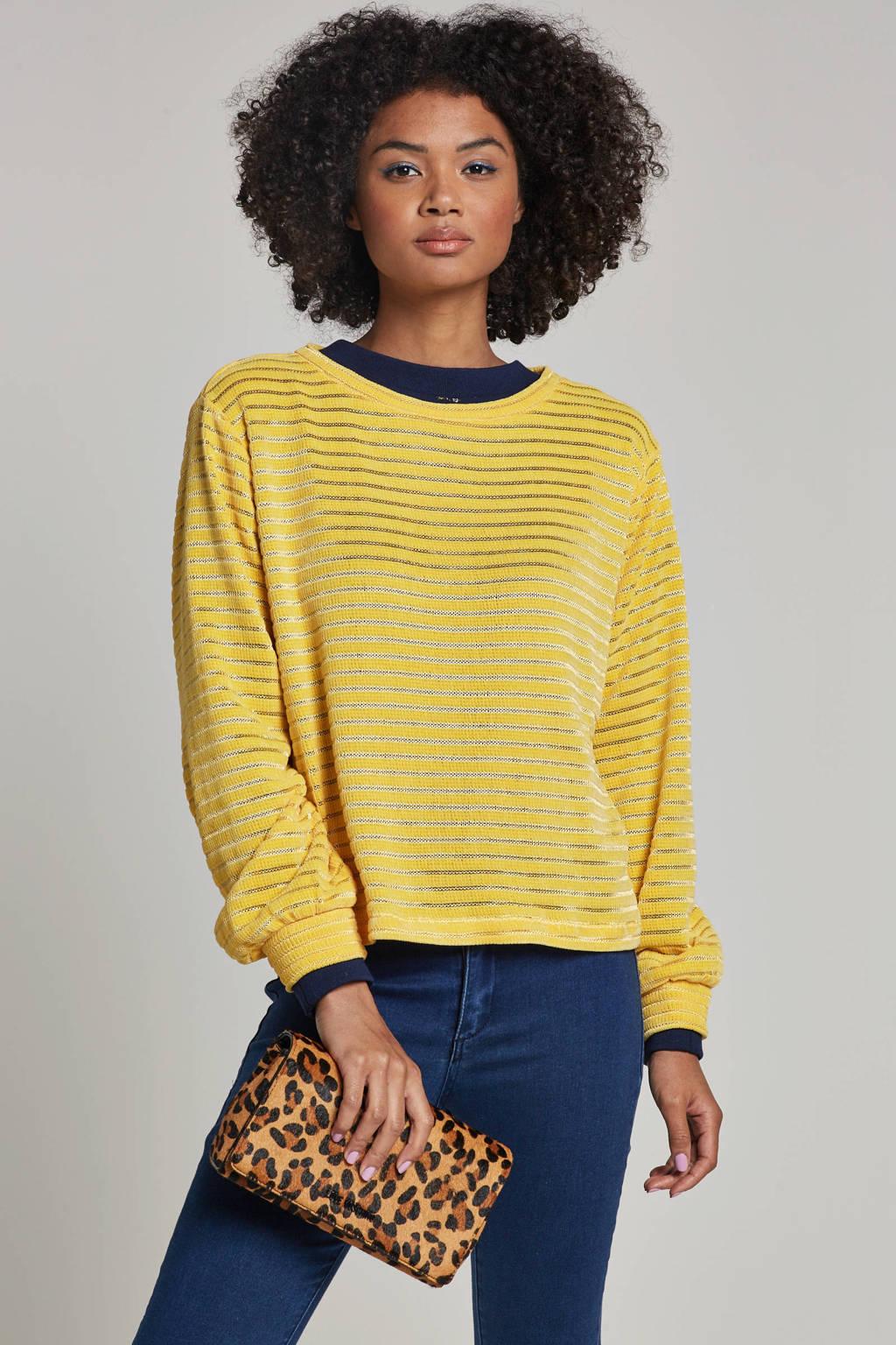 ONLY gestreepte trui geel, Geel