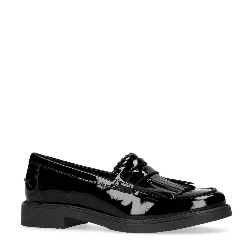 Sacha lakleren loafers zwart, Zwart