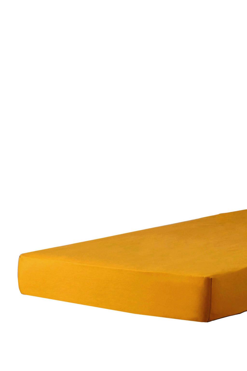 whkmp's own katoenen peuterhoeslaken (70x150 cm) Donker okergeel