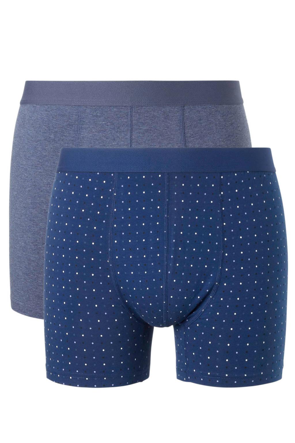 ten Cate boxershort (set van 2), Blauw/grijs