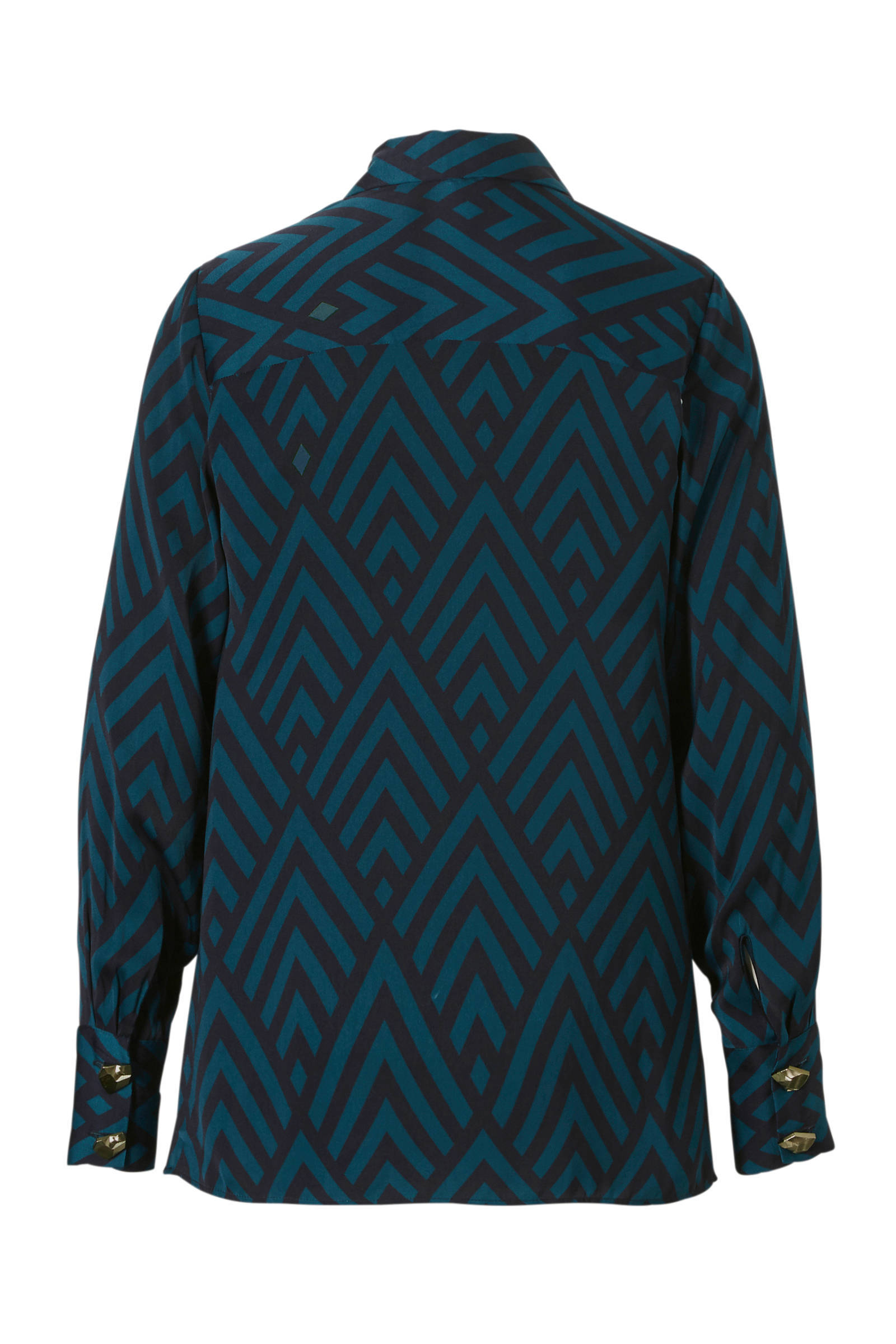 Fifth blouse Rose over met House print all 65q4r6w